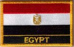 Egypt Embroidered Flag Patch, style 09.